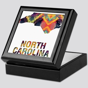 Mosaic Map NORTH CAROLINA Keepsake Box